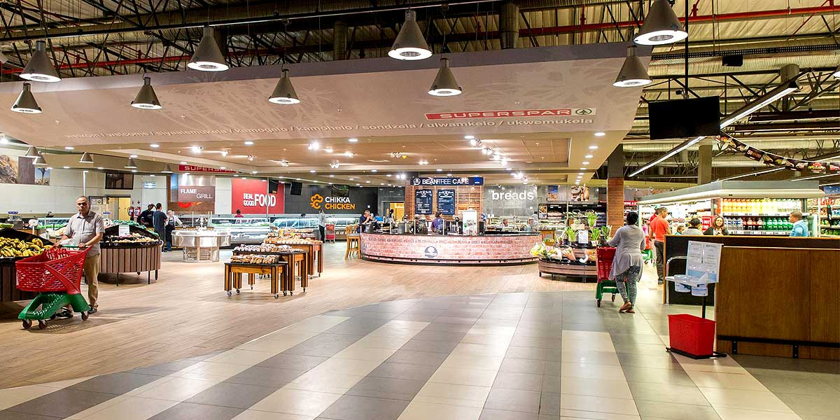 Entrance to the SuperSpar at Kalahari Mall, Upington