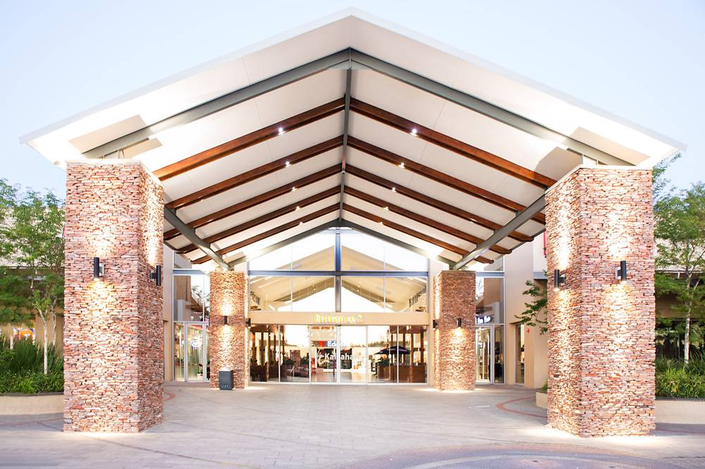One of the stunning entrances to the Kalahari Mall in Upington.